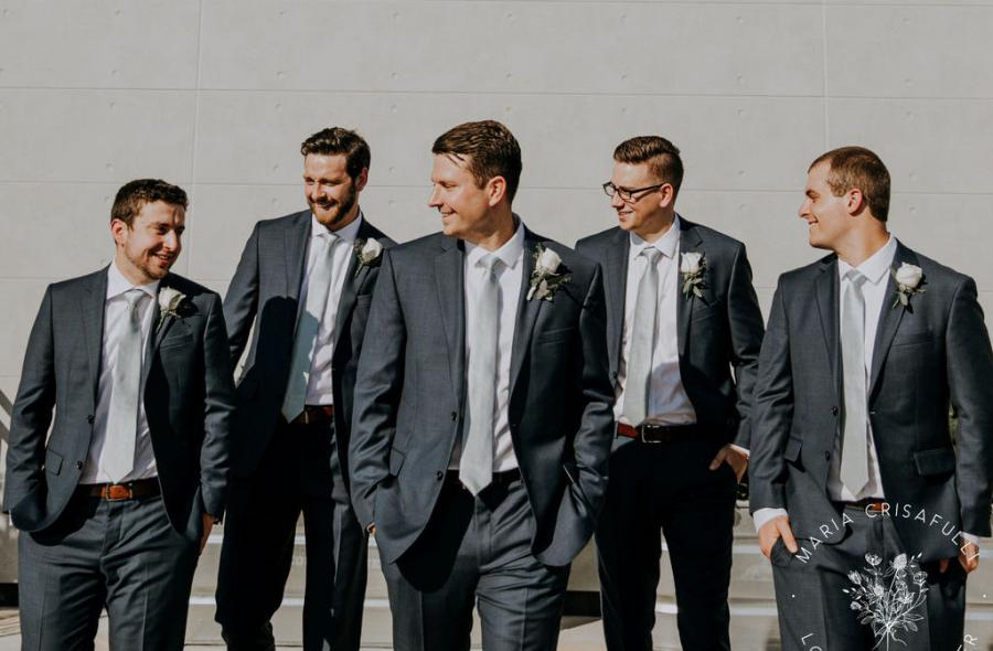 Kylee & Ryan Wedding - Groom and Groomsmen