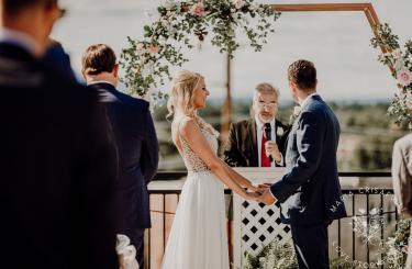 Kylee & Ryan Wedding - Bride and Groom getting married