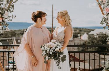 Kylee & Ryan Wedding - Bride and guest